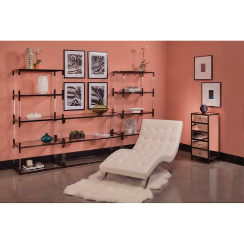 Silver Orchid Fields 5-drawer Mirrored Cabinet