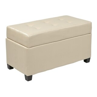 OSP Designs Faux Leather Storage Ottoman