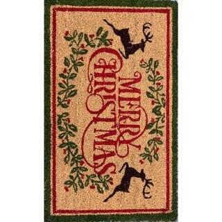 18 x 30 Merry Christmas Festive Coir Doormat