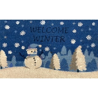 Shop Hand Woven Winter Berries Coir Doormat Free