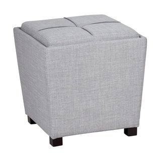 OSP Home Furnishings 2 Piece Ottoman Set with Tray Top
