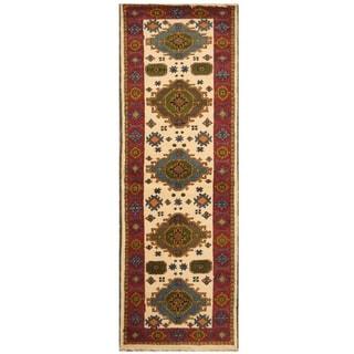 Handmade Kazak Wool Rug (India) - 2'9 x 8'4