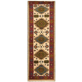 Handmade Kazak Wool Rug (India) - 2'9 x 8'4