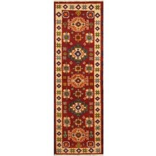 Handmade One-of-a-Kind Kazak Wool Rug (India) - 2'2 x 6'6