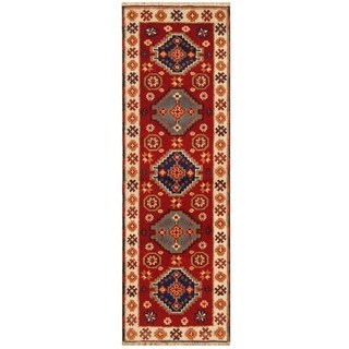 Handmade One-of-a-Kind Kazak Wool Rug (India) - 10' Runner