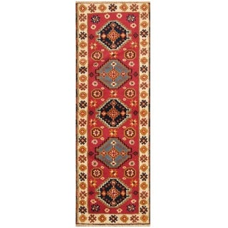 Handmade One-of-a-Kind Kazak Wool Rug (India) - 8' Runner