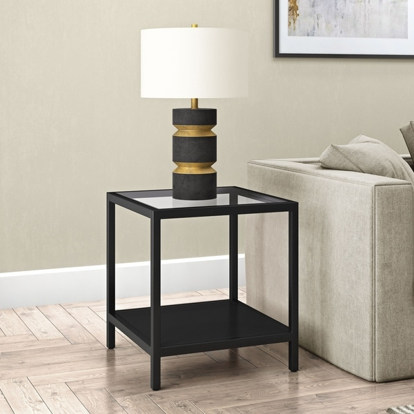 Shop Rigan Blackened Bronze Side Table Free Shipping