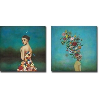 Reflective Nature and A Mindful Garden by Duy Huynh 2-piece Gallery Wrapped Canvas Giclee Art Set (Ready to Hang)