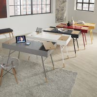 Aalto Two-tone Compartment Desk with Charging Station by iNSPIRE Q Modern