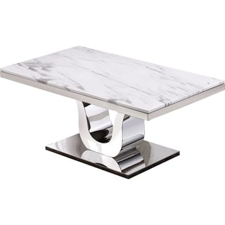 Best Quality Furniture Genuine White Marble Table