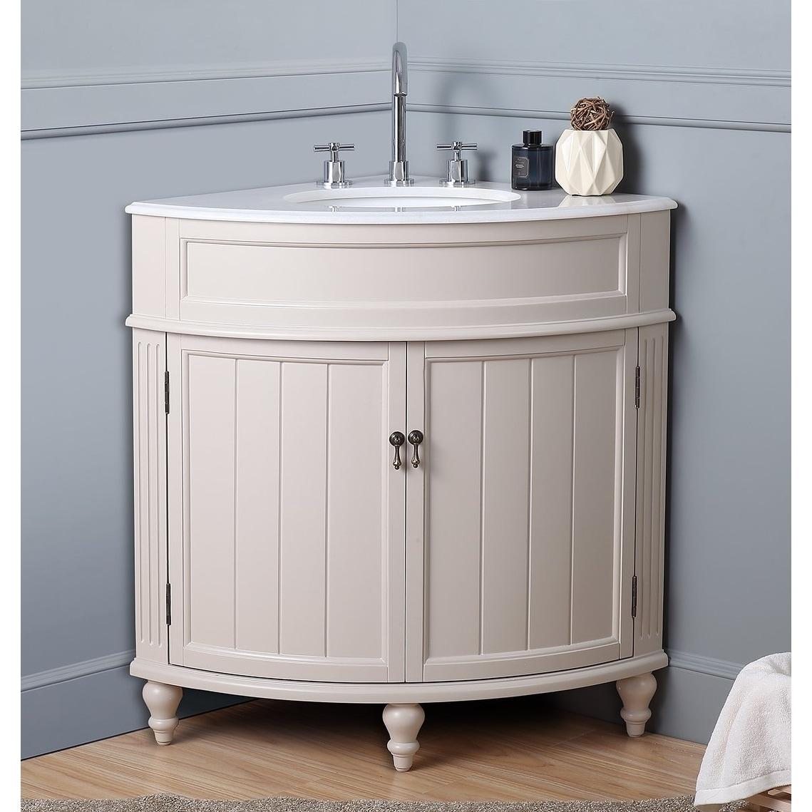 24 Thomasville Gray Modern Slim Corner Bathroom Sink Vanity Zk 47566ck Bathroom Vanities Tools Home Improvement Doingoood Nl