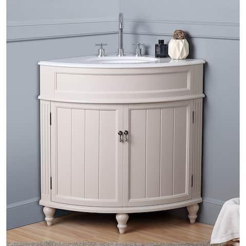 24  Benton Collection Thomasville Taupe Corner Bathroom Sink Vanity. Buy Corner Bathroom Vanities   Vanity Cabinets Online at Overstock