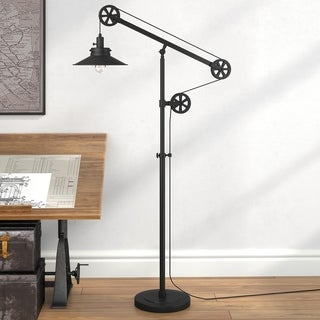 Descartes Black Metal Wide Brim Floor Lamp