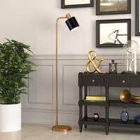 Thew Industrial Glam Floor Lamp in Gold & Black