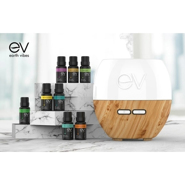 Earth Vibes 200mL Essential Oil Diffuser Set