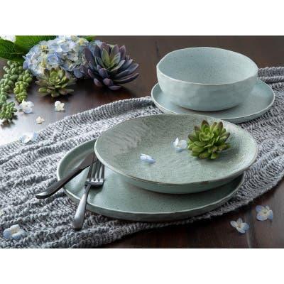 Sango Kaya Blue 16-piece Stoneware Dinnerware Set
