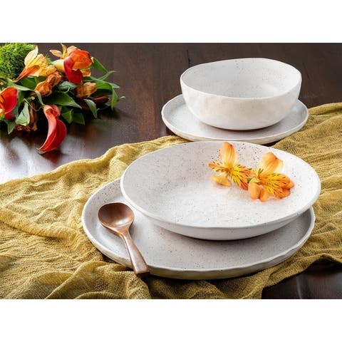 Sango Kaya White 16 Piece Dinnerware Set, Service for 4