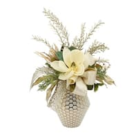 Magnolia and Gold Centerpiece