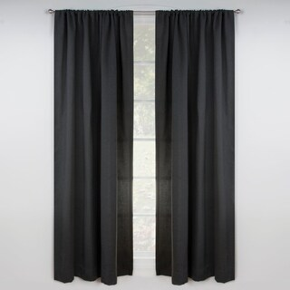 Revolution Plus Stain Resistant Solid color Flat Curtain Panel