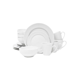 Sango Aventura White 16 Piece Dinnerware Set, Service for 4