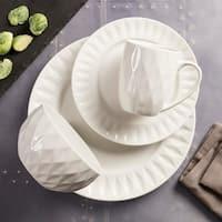 Kingston White 16 Piece Dinnerware Set
