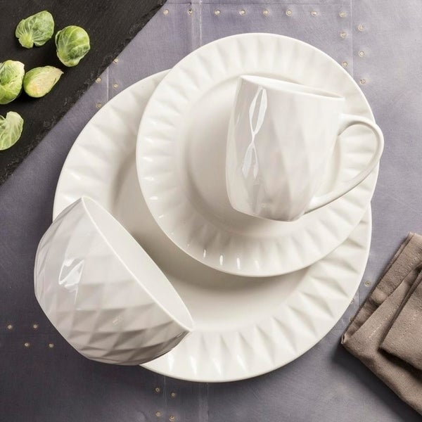 Shop Sango Kingston White 16 Piece Dinnerware Set Service