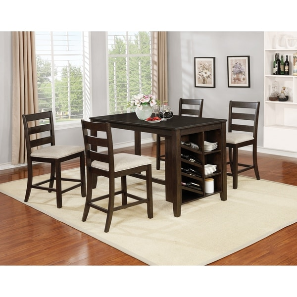Best Quality Dining Room Furniture: Shop Best Quality Furniture 5-Piece Cappuccino Counter