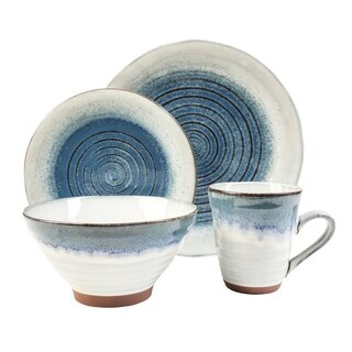 Talia Dusk Blue 16 Piece Dinnerware Set
