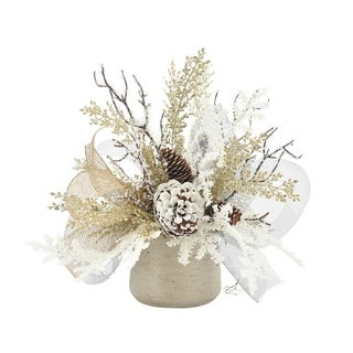 Champagne Holiday Centerpiece