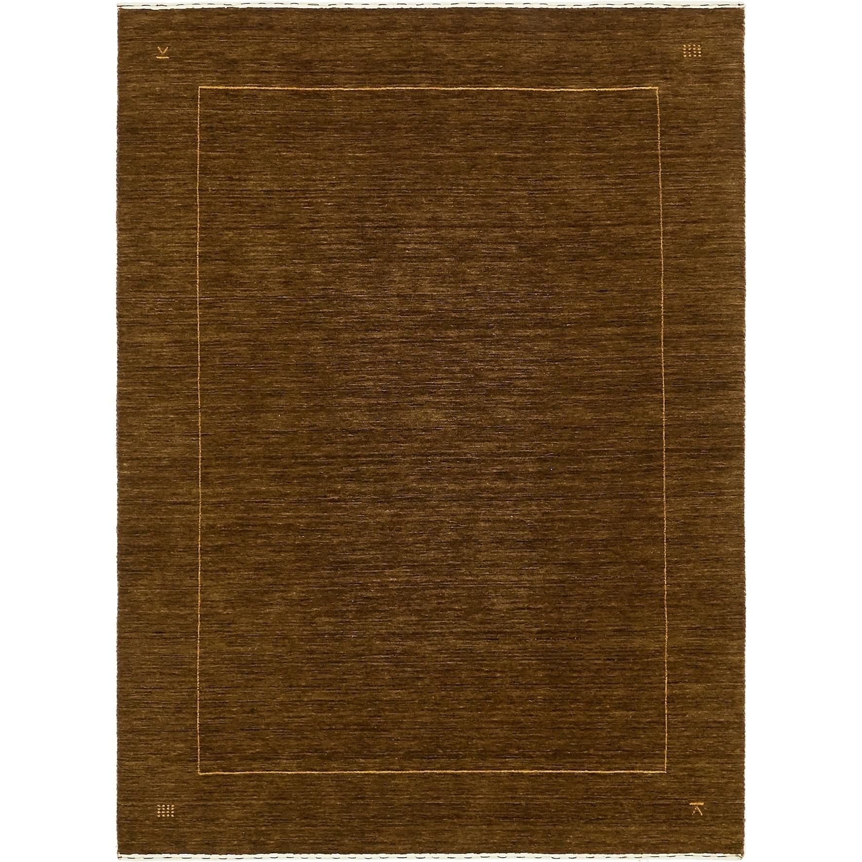 Hand Knotted Kashkuli Gabbeh Wool Area Rug - 4 10 x 6 8 (Olive - 4 10 x 6 8)