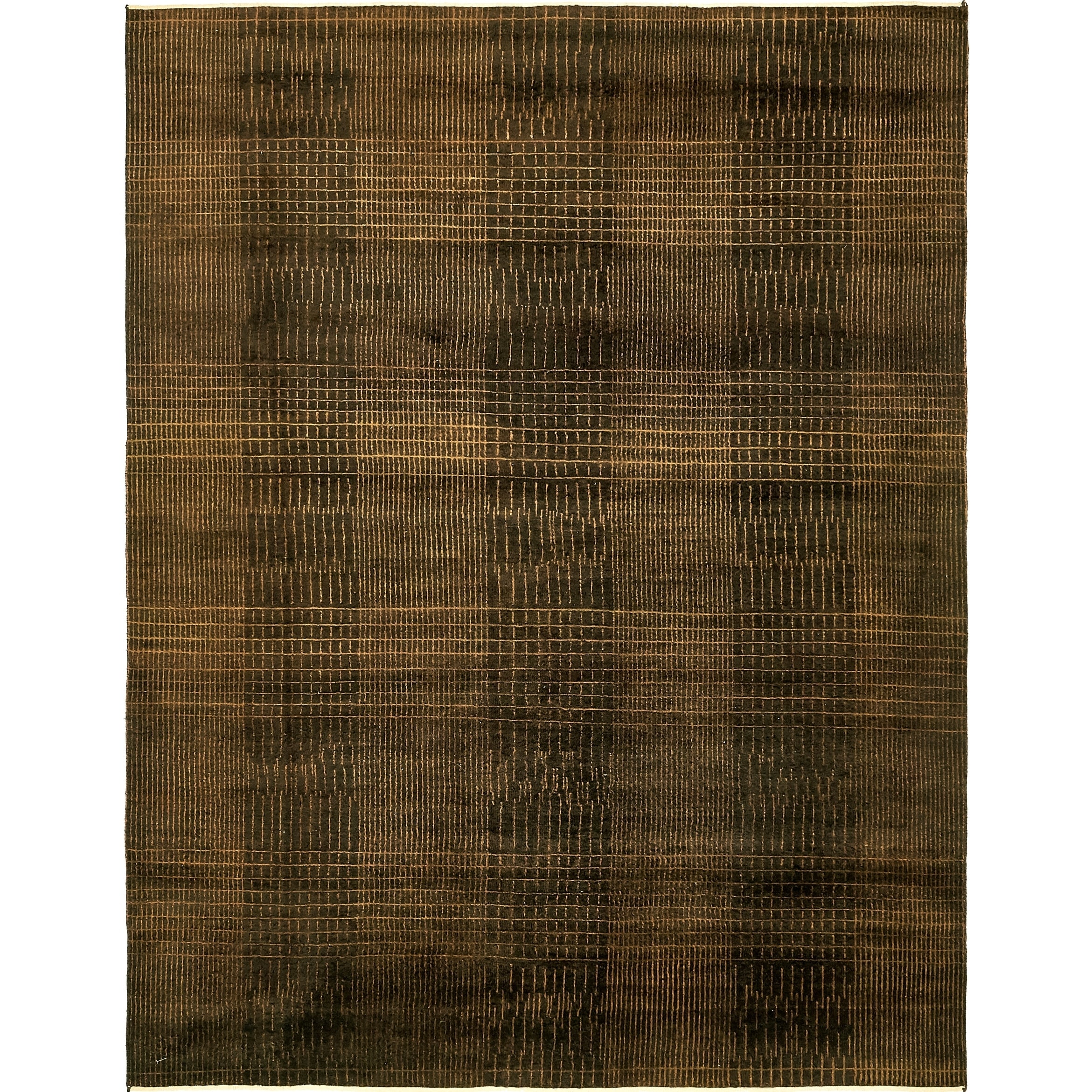 Hand Knotted Kashkuli Gabbeh Silk & Wool Area Rug - 6 5 x 8 4 (Brown - 6 5 x 8 4)