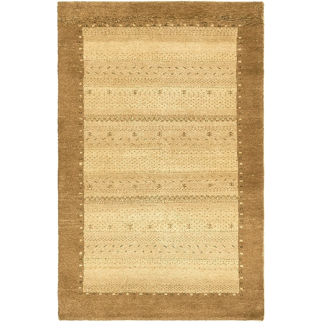 Hand Knotted Kashkuli Gabbeh Wool Area Rug - 3 x 4 10 (Beige - 3 x 4 10)