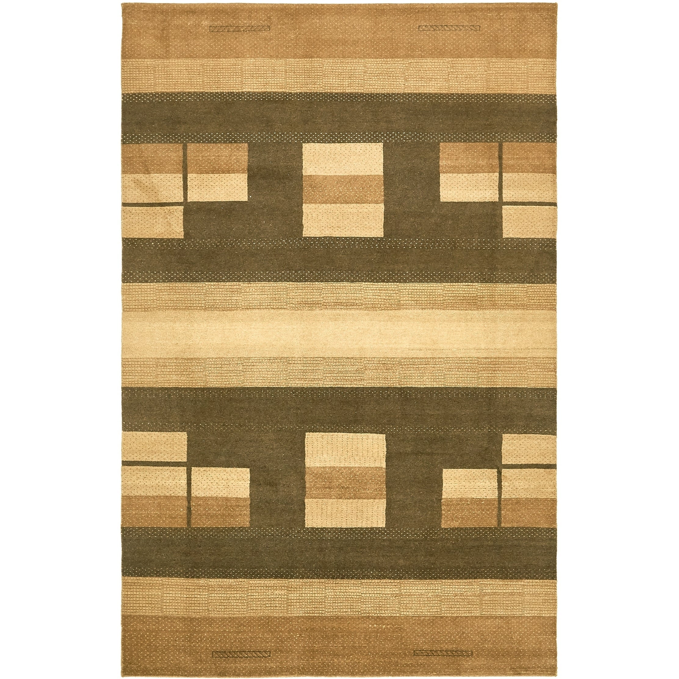 Hand Knotted Kashkuli Gabbeh Wool Area Rug - 6 2 x 9 7 (Brown - 6 2 x 9 7)