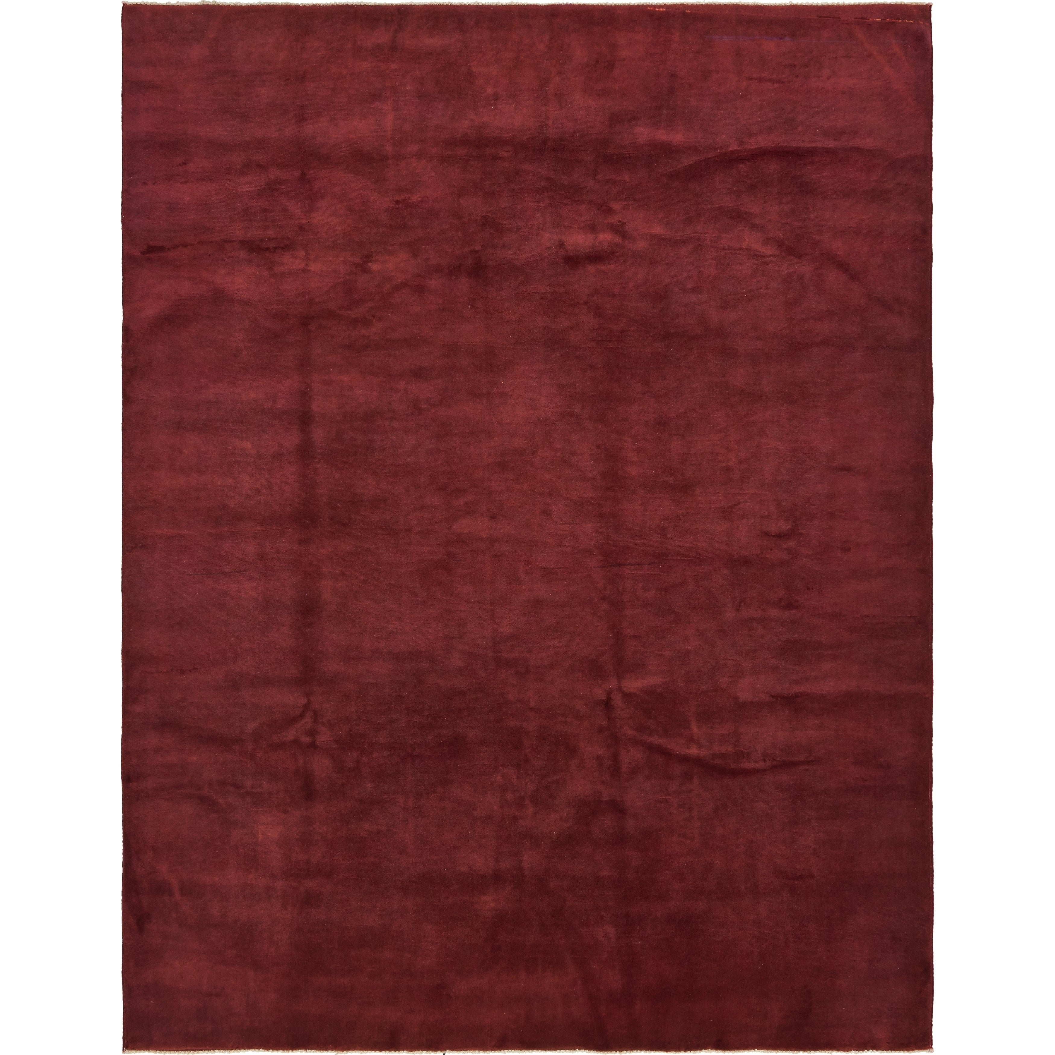 Hand Knotted Kashkuli Gabbeh Wool Area Rug - 6 8 x 8 7 (Burgundy - 6 8 x 8 7)