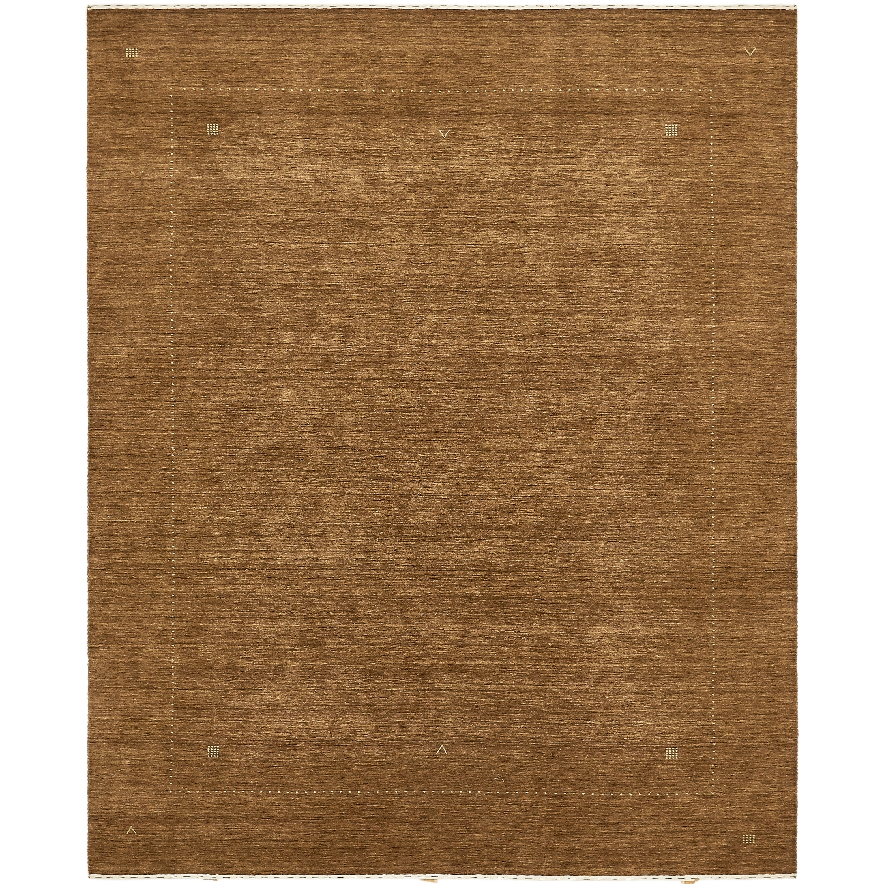 Hand Knotted Kashkuli Gabbeh Wool Area Rug - 8 x 10 (Brown - 8 x 10)