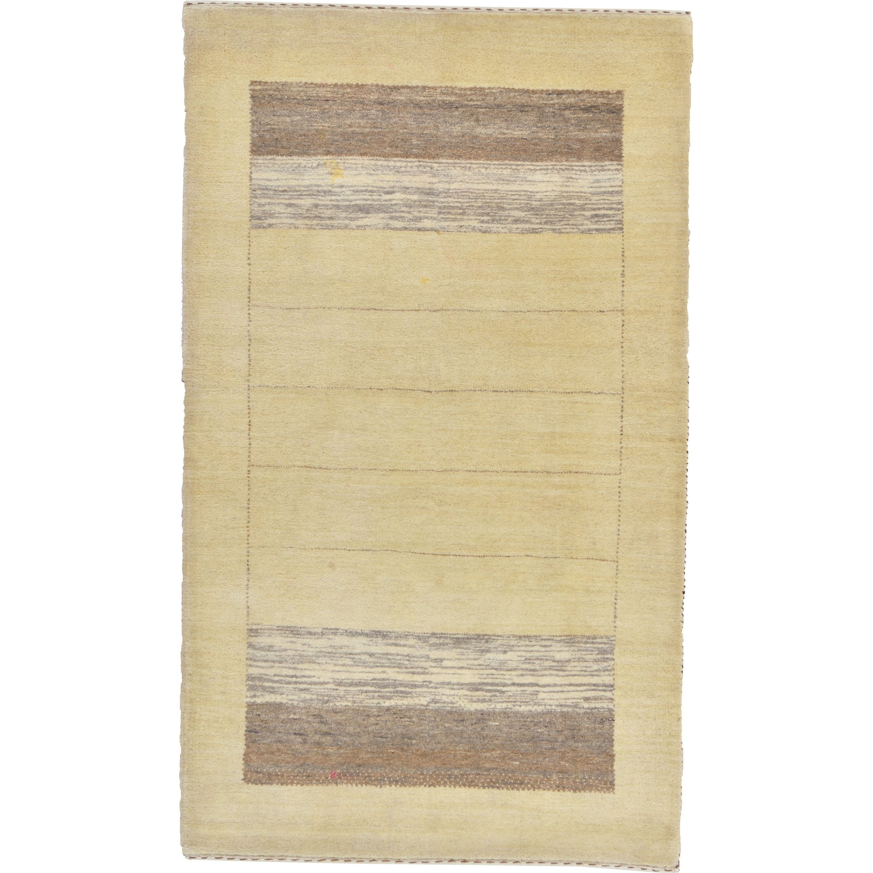 Hand Knotted Kashkuli Gabbeh Wool Area Rug - 3 2 x 5 3 (Cream - 3 2 x 5 3)