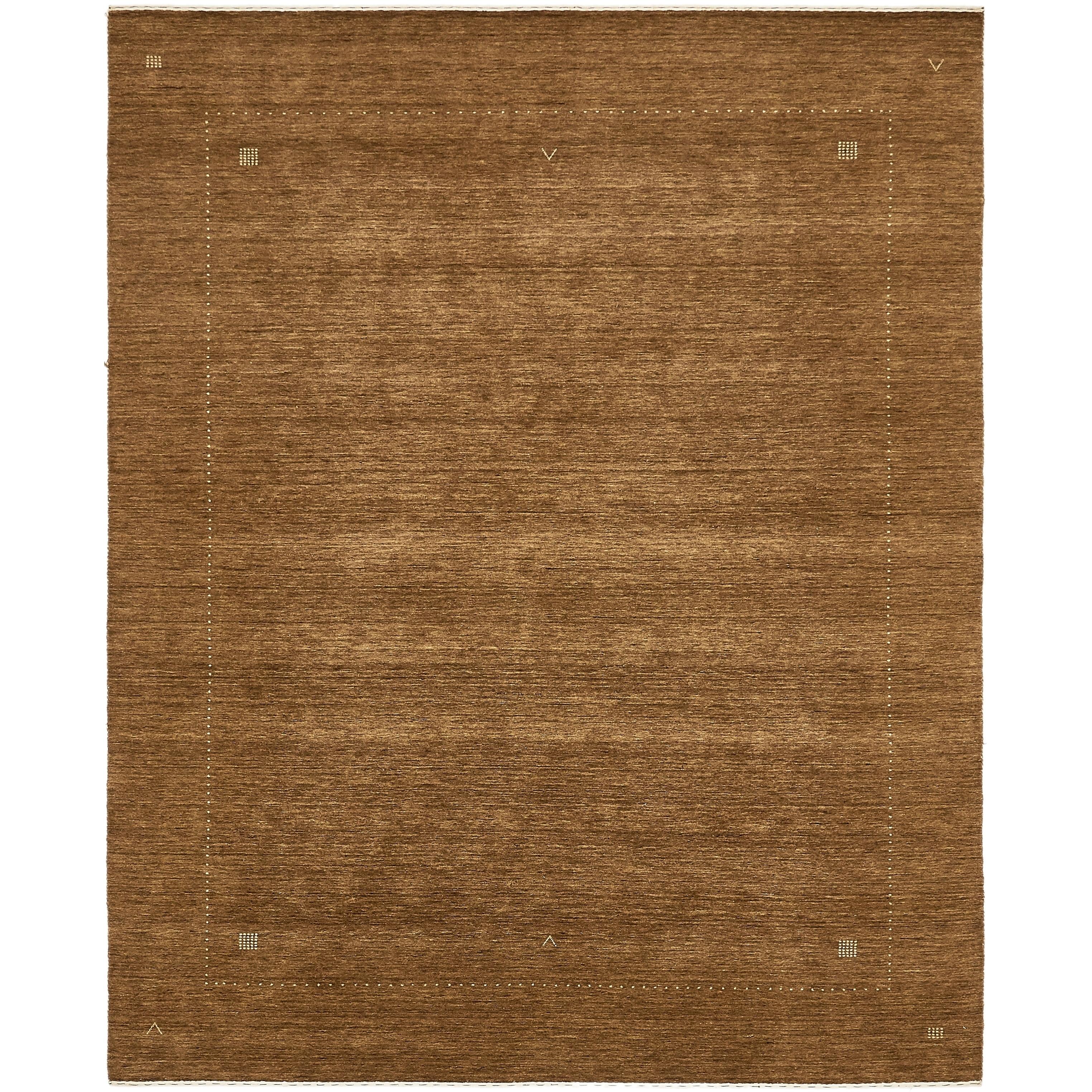 Hand Knotted Kashkuli Gabbeh Wool Area Rug - 8 2 x 10 (Brown - 8 2 x 10)