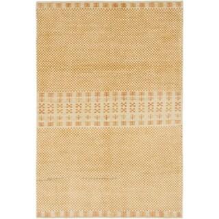 Hand Knotted Kashkuli Gabbeh Wool Area Rug - 4' x 5' 10