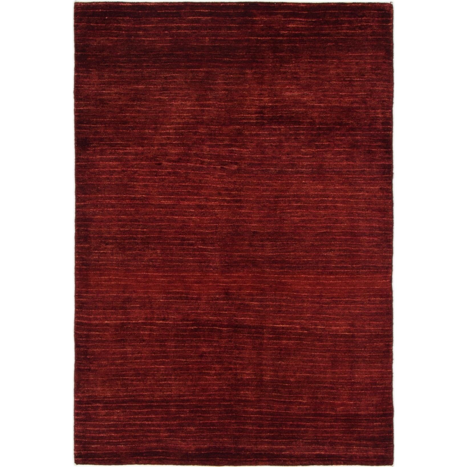Hand Knotted Kashkuli Gabbeh Wool Area Rug - 4 2 x 6 (Burgundy - 4 2 x 6)