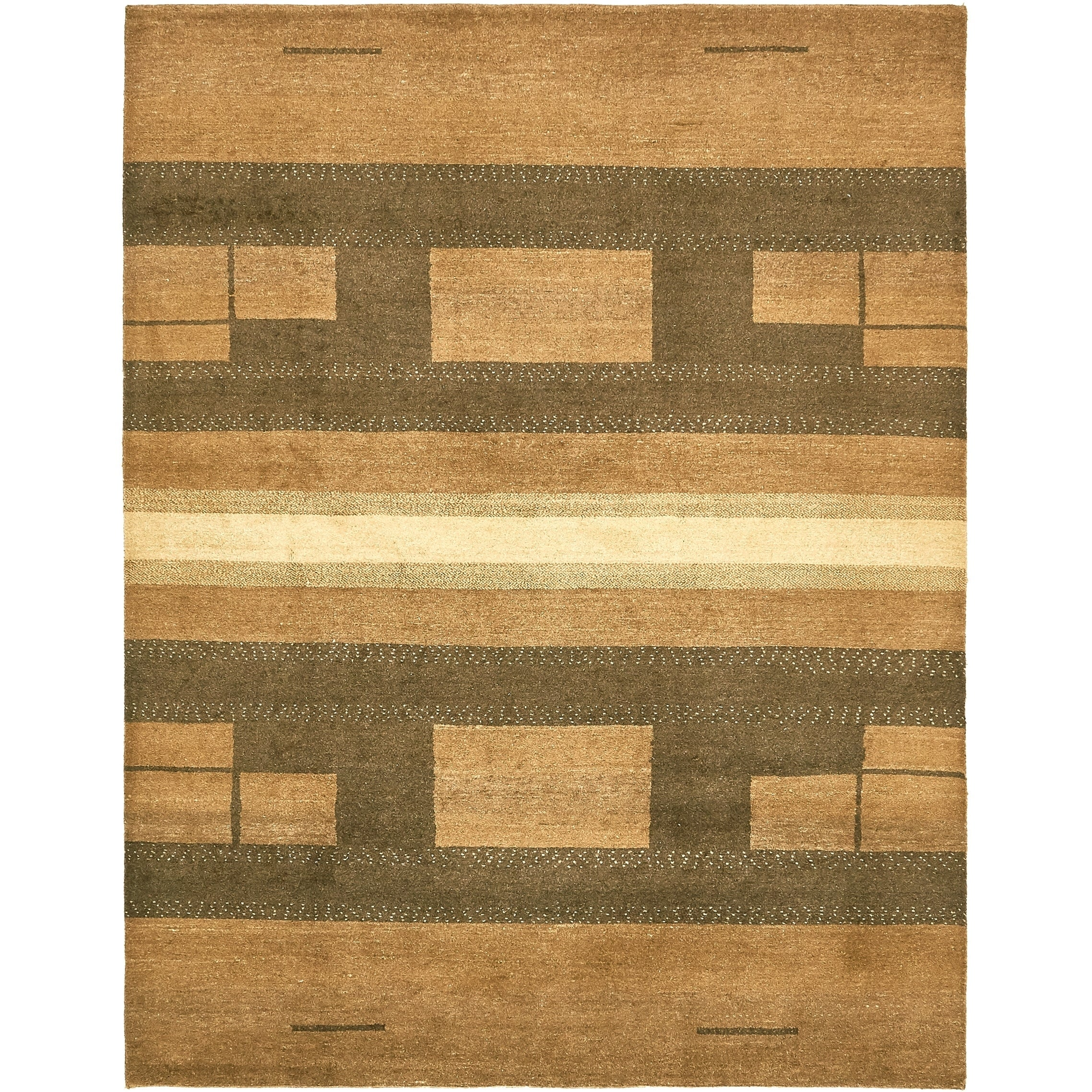 Hand Knotted Kashkuli Gabbeh Wool Area Rug - 6 4 x 8 (Burgundy - 6 4 x 8)