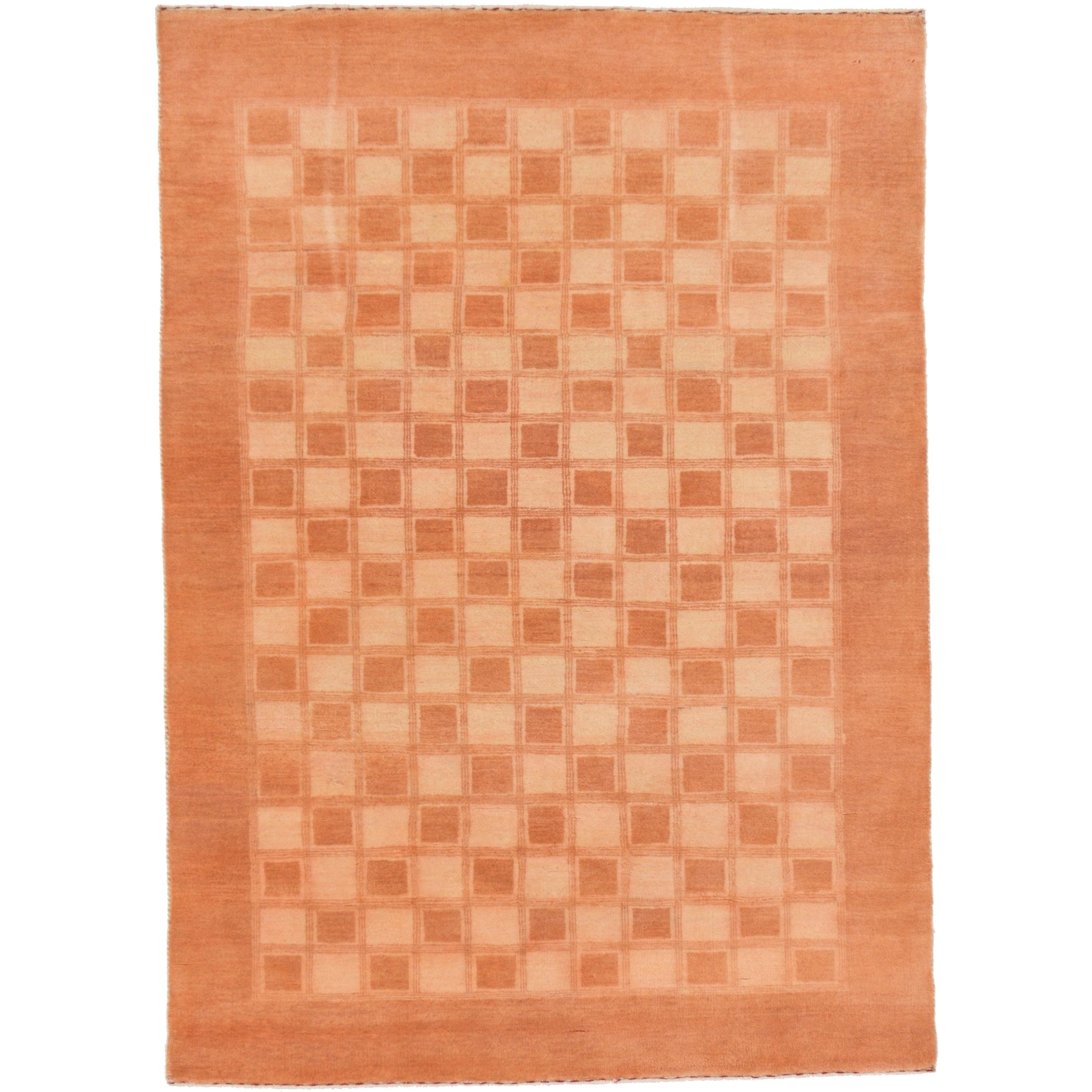 Hand Knotted Kashkuli Gabbeh Wool Area Rug - 4 x 5 8 (Beige - 4 x 5 8)