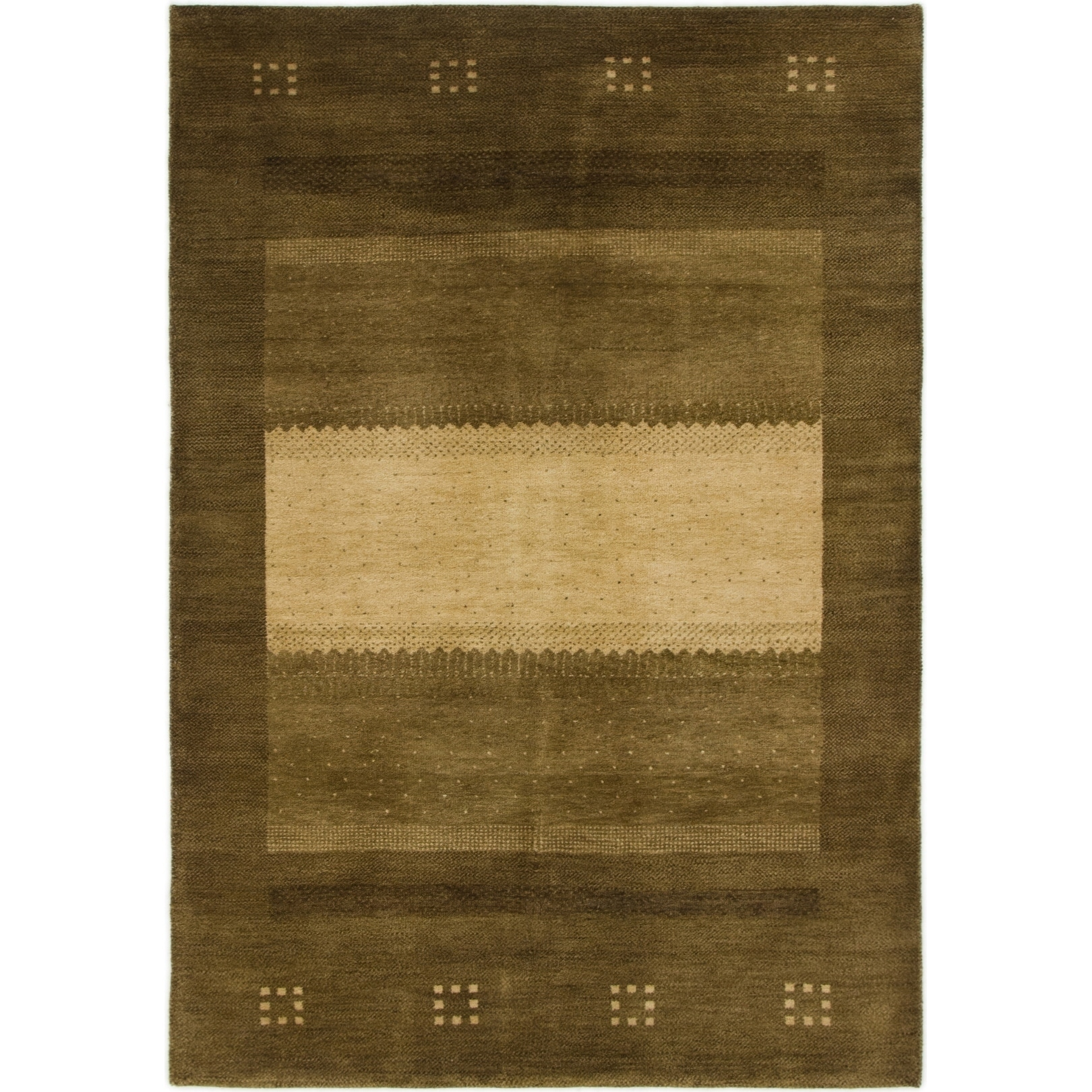 Hand Knotted Kashkuli Gabbeh Wool Area Rug - 4 1 x 6 (Brown - 4 1 x 6)