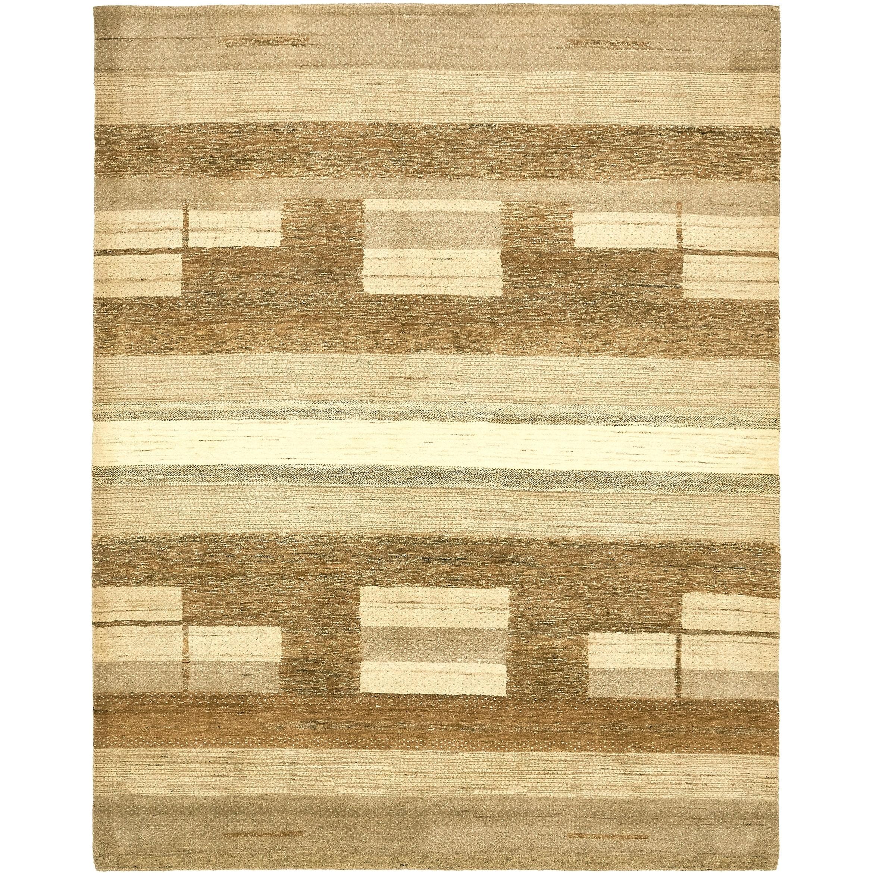 Hand Knotted Kashkuli Gabbeh Wool Area Rug - 6 5 x 8 2 (Beige - 6 5 x 8 2)
