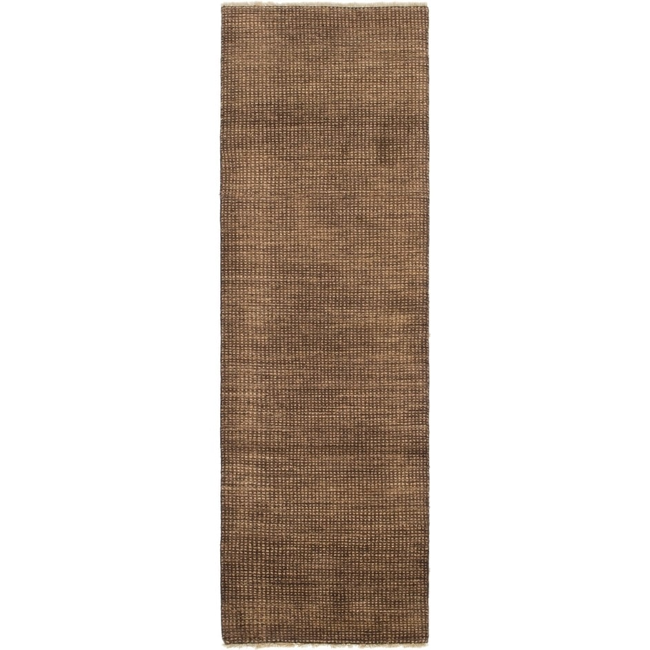Hand Knotted Kashkuli Gabbeh Wool Runner Rug - 2 7 x 8 5 (Brown - 2 7 x 8 5)