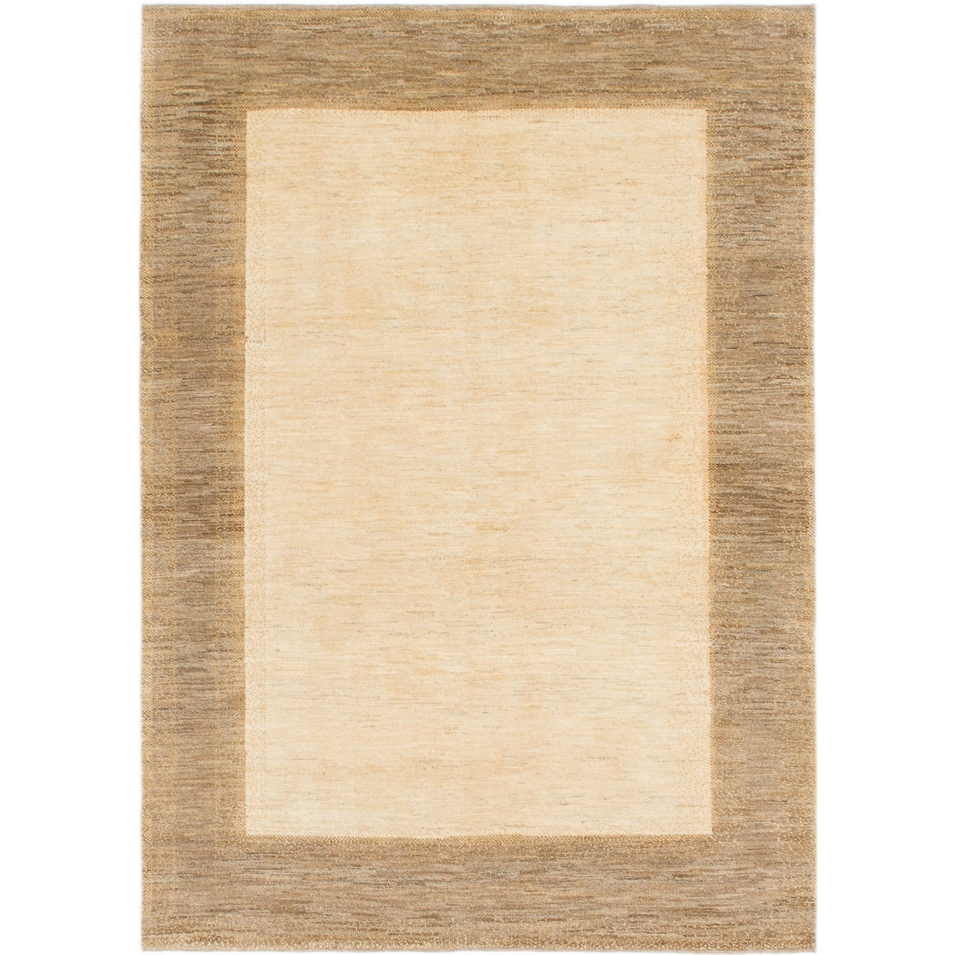 Hand Knotted Kashkuli Gabbeh Wool Area Rug - 5 8 x 7 10 (Cream)