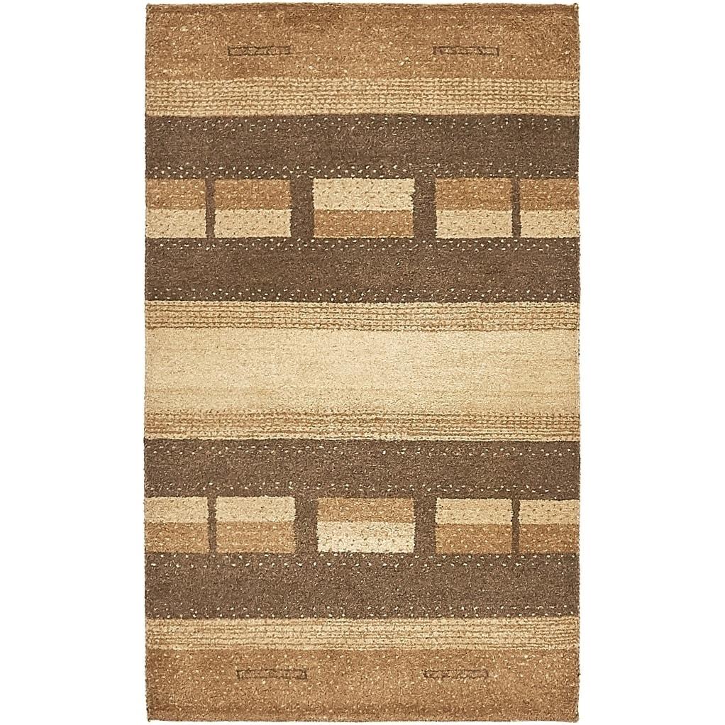Hand Knotted Kashkuli Gabbeh Wool Area Rug - 2 7 x 4 4 (Brown - 2 7 x 4 4)