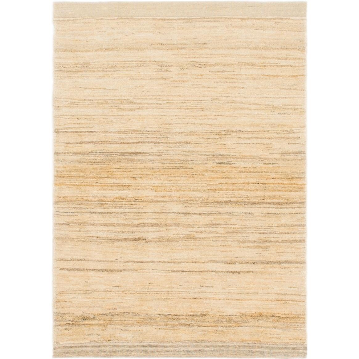 Hand Knotted Kashkuli Gabbeh Wool Area Rug - 3 6 x 4 10 (Gold - 3 6 x 4 10)
