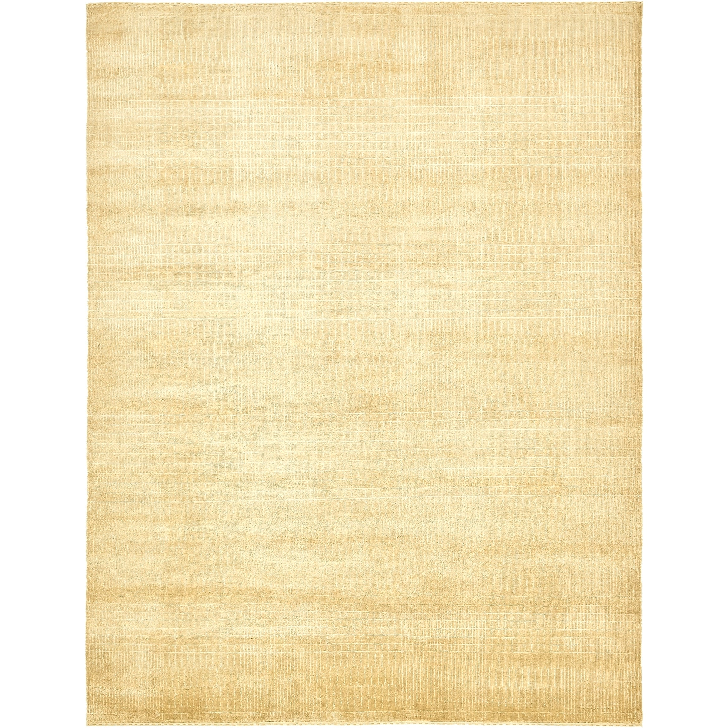 Hand Knotted Kashkuli Gabbeh Silk & Wool Area Rug - 6 5 x 8 4 (Cream - 6 5 x 8 4)