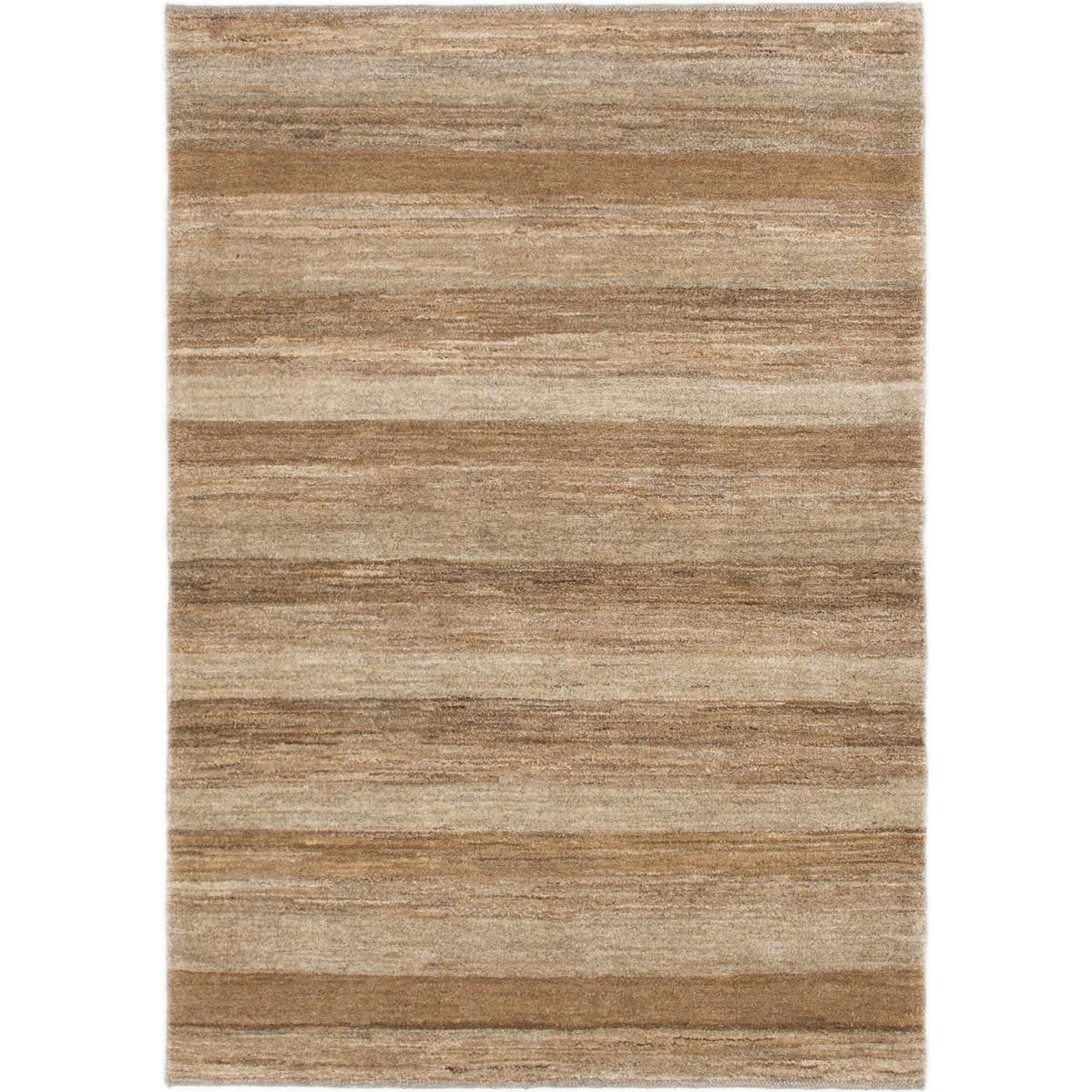 Hand Knotted Kashkuli Gabbeh Wool Area Rug - 3 6 x 5 (Brown - 3 6 x 5)