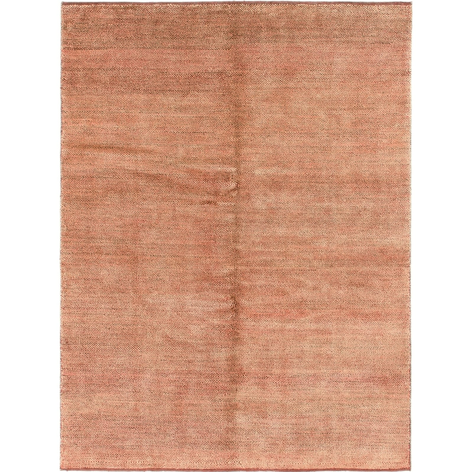 Hand Knotted Kashkuli Gabbeh Wool Area Rug - 4 9 x 6 5 (Red - 4 9 x 6 5)
